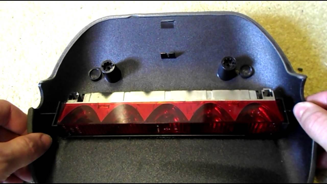 How To Replace Brake Light >> Ford Fiesta High Level Brake Light Bulb Change - YouTube