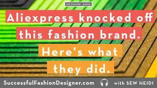 Bonus Episode: Aliexpress knocked off this fashion brand. Here's what they did.