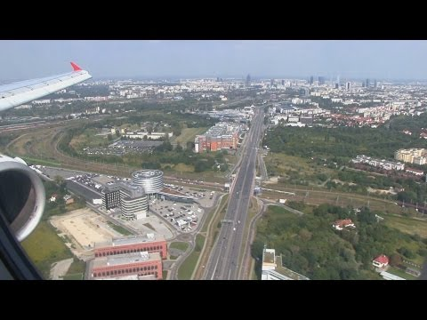 Turkish Airlines A321 Landing Warsaw Chopin Airport
