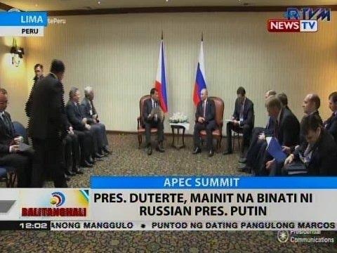 BT: Pres. Duterte, mainit na binati ni Russian Pres. Putin