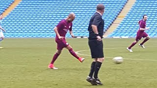 Pep Guardiola Makes Surprise Appearance In Manchester City Staff Game