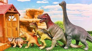 Dinosaurs for kids | Dinosaurs will go home 恐竜のおもちゃがすぽすぽと家に帰るよ 子供向け Gizmone