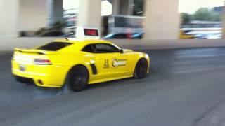 Top Gear USA Exotic Taxi Fleet BURNOUT + Accelerations! LP640, 458 Italia, Camaro, SLR, And Carrera!