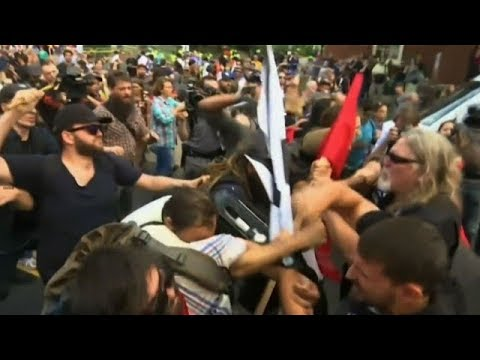Violent clash at white nationalist rally