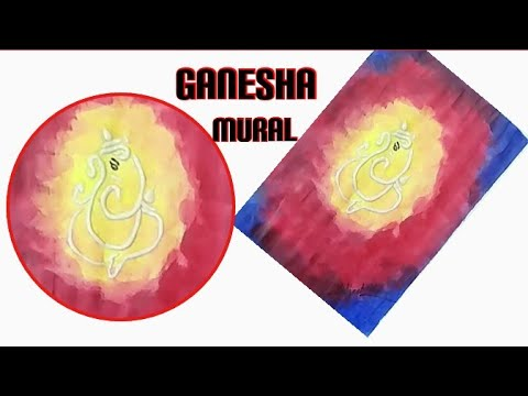 Ganesha Mural Painting/Ganesha Mural/3D wall Mural/Ceramic Art/Ganesha 3D Art Tutorial/home decor