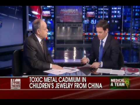 Toxic Metal Cadmium found Used in Chinese Exports Kid's Jewelry