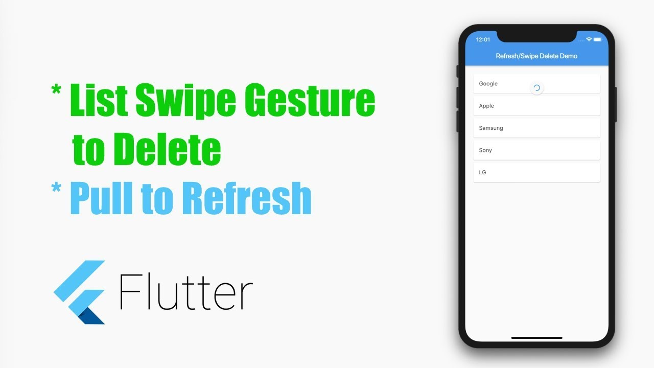 Flutter Tutorial – List Pull to Refresh and Swipe to Delete