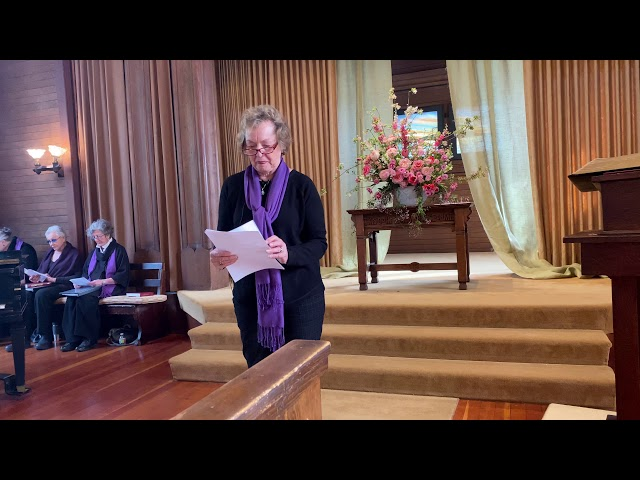 03/08/20 (2 of 3 Service clips) Liturgist Joan Glas, Responsive Reading