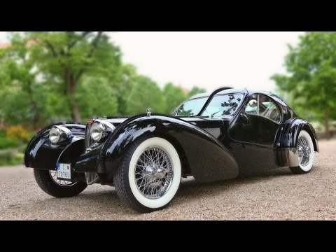 "Bugatti 57SC Atlantic -little ""Drag Race"" on the Road!"