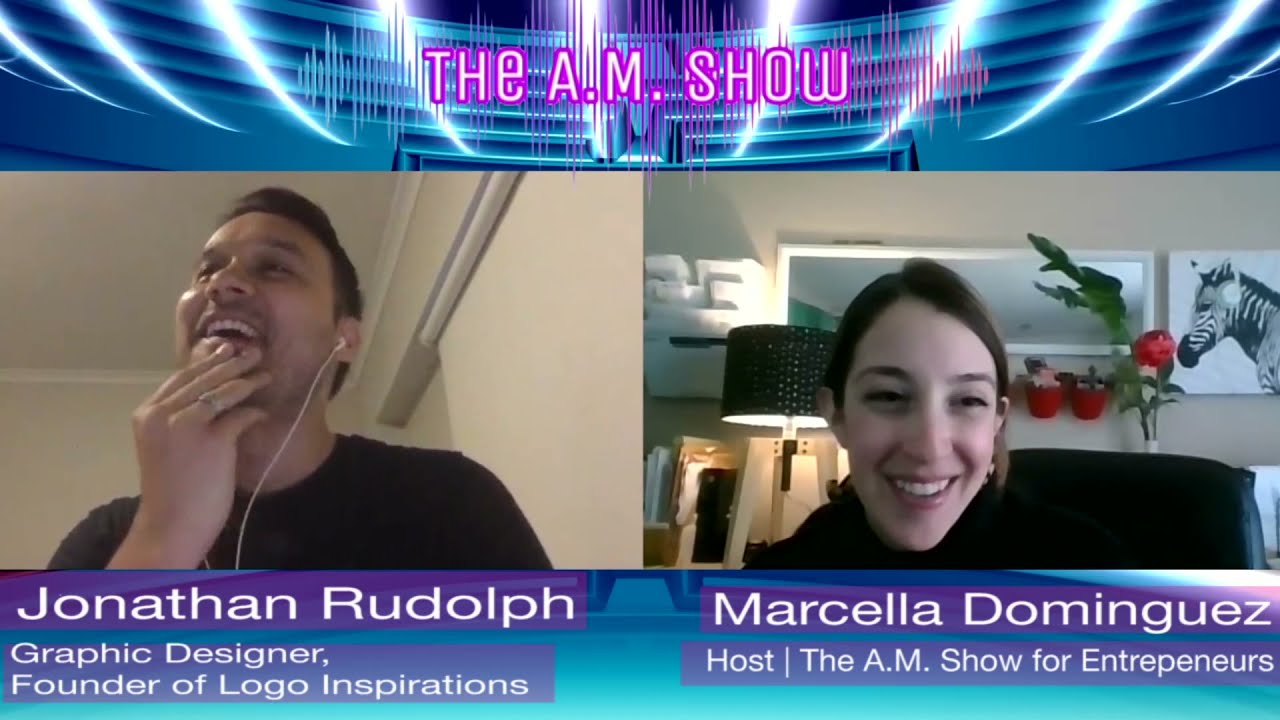 Instagram Tips + Logo Design Tricks| Jonathan Rudolph | The A.M. Show Marcella Dominguez