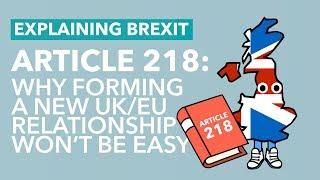 Article 218: The Future UK/EU Relationship - Brexit Explained