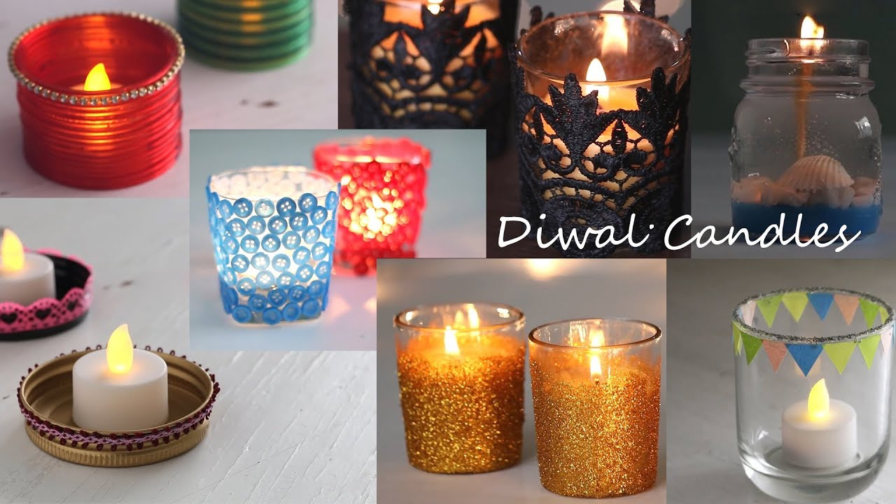 Lovely DIY Diwali Candles - YouTube ND34