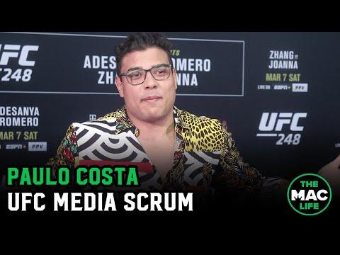 Paulo Costa Says He's Facing Israel Adesanya Vs. Yoel Romero Winner In July; Shows Off Surgery Scar