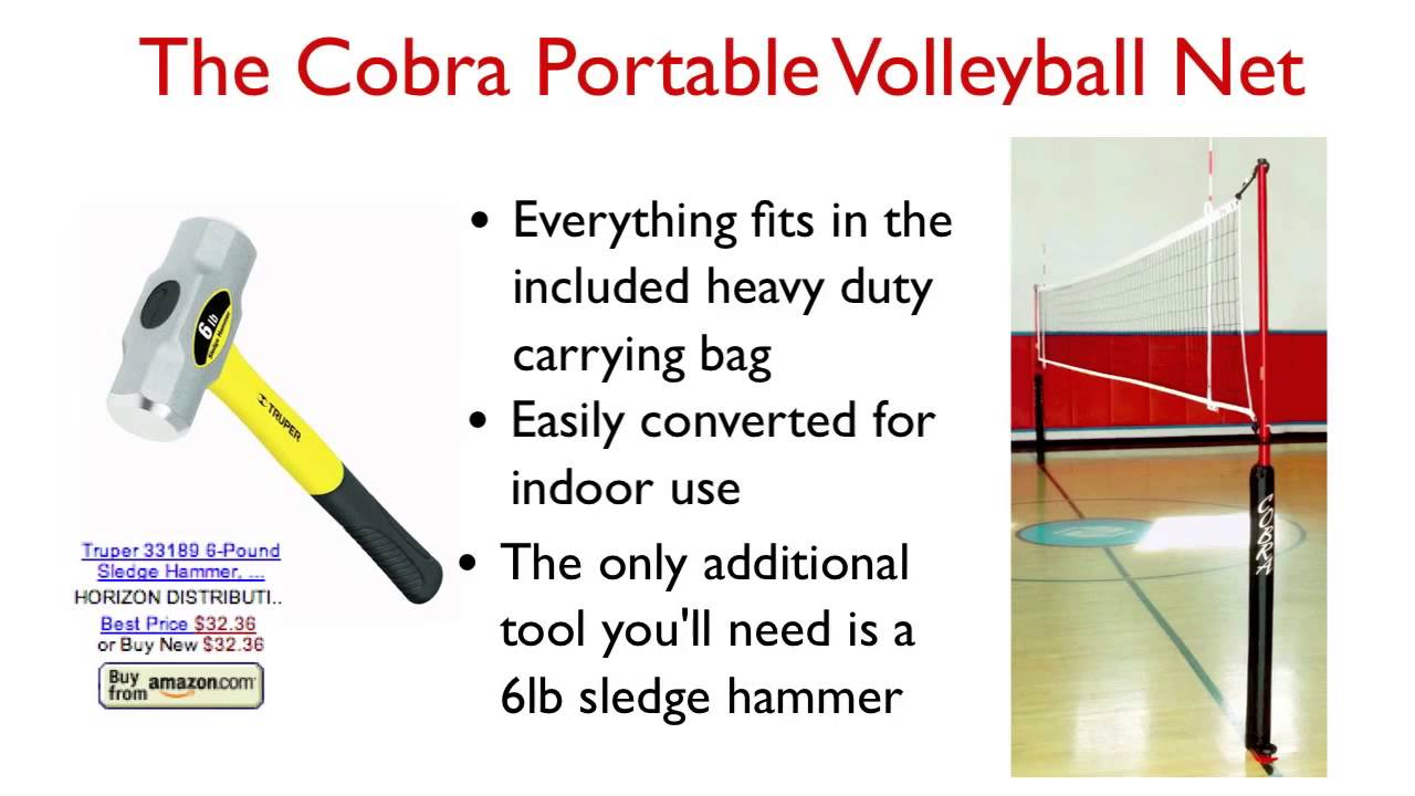 Portable Indoor Outdoor Volleyball Nets Cobra Sports International You