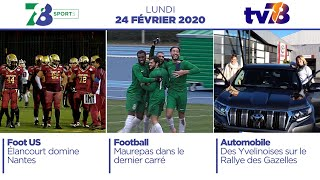 7/8 Sports. Emission du lundi 24 février 2020