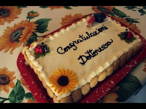 Torta laurea con base tiramis youtube - Foto per decorare torte ...