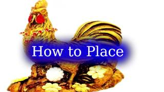 Wealthy FENG SHUI Rooster for Confidence and Luck in English