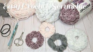 Easy Crochet Scrunchie // BEGINNER TUTORIAL!