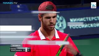 Hot Shot: Khachanov Hammers Forehand Scorcher In Moscow 2018