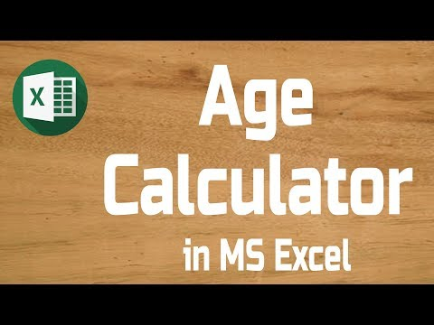 How To Calculate Age In Excel | How To Calculate Age From Date Of Birth | Age Calculator In Excel