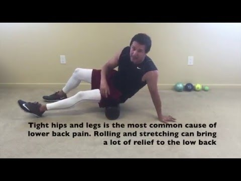 Foam rolling the Hips to Reduce Lower Back Pain | San Mateo Chiropractors