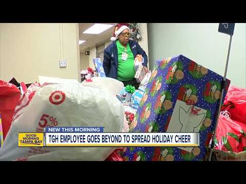 Mychal Maguire - Tampa General Hospital Employee Plays Santa For Foster Kids