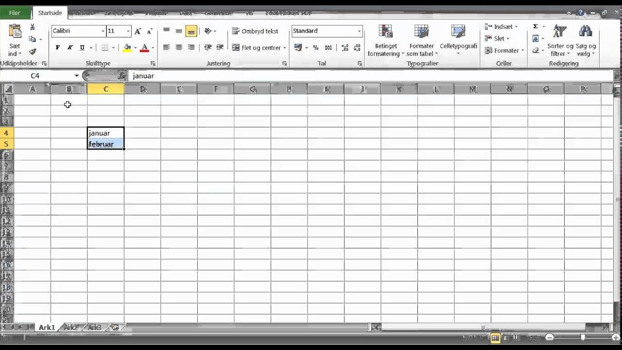 Hvordan kopierer man let celler i Excel?