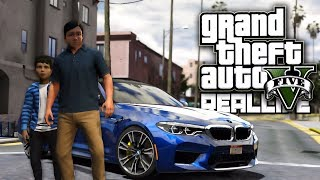 Реальная Жизнь в GTA 5 - Новая БМВ М5 и уличные гонки! Сходка с подписчиками!