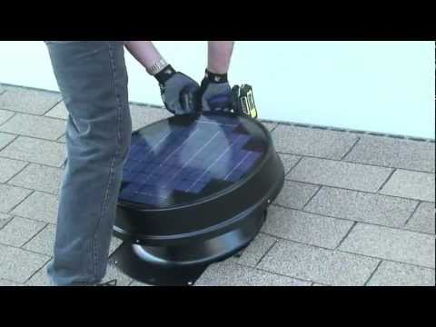 How to Install Solar Attic Fan DIY - Yellowblue Eco Tech
