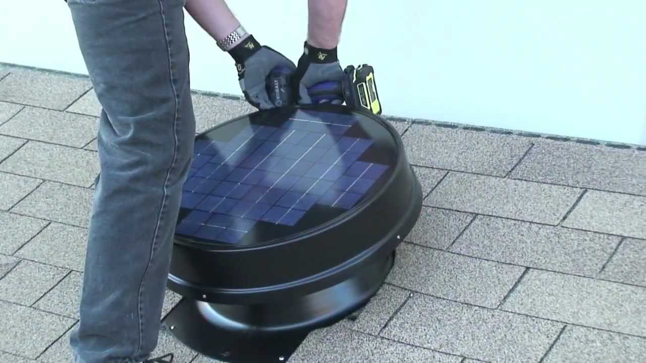 How to Install Solar Attic Fan DIY Yellowblue Eco Tech YouTube