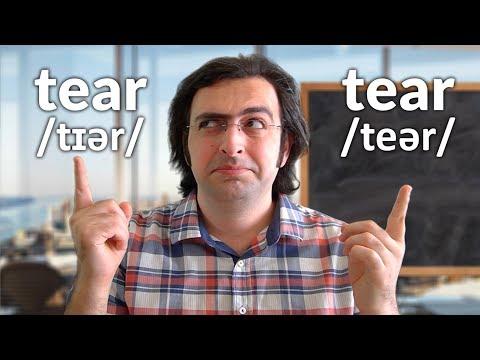 ENGLISH VOCABULARY – Tear vs. Tear (Meaning, Pronunciation & Use)