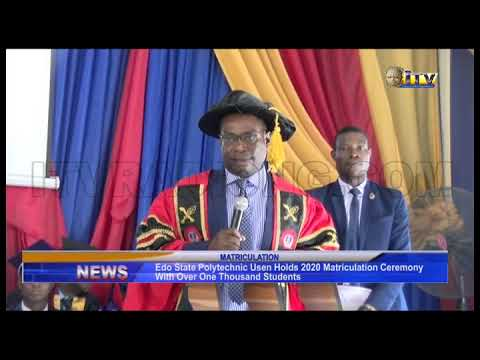 Download Edo State Polytechnic Usen holds 2020 matriculation ceremony with over one thousand students