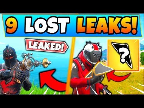 Fortnite 9 LEAKED ITEMS LOST/NEVER RELEASED! (Battle Royale Leaks)