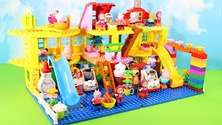 Peppa Pig Legos House Construction Sets - Lego Duplo House With Water Slide Toys For Kids #9