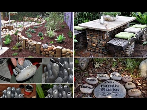 Fabulous Garden Decorating Ideas with Rocks and Stones - YouTube