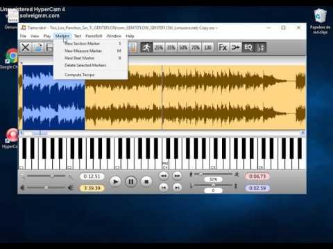 Bajar la velocidad de canciones con transcribe