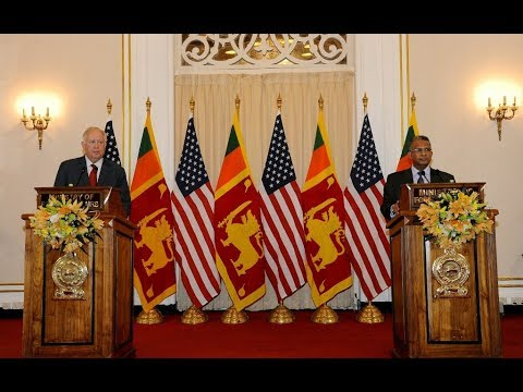 Remarks to Media & Press Conference following Sri Lanka- US Partnership Dialogue, 6 November 2017