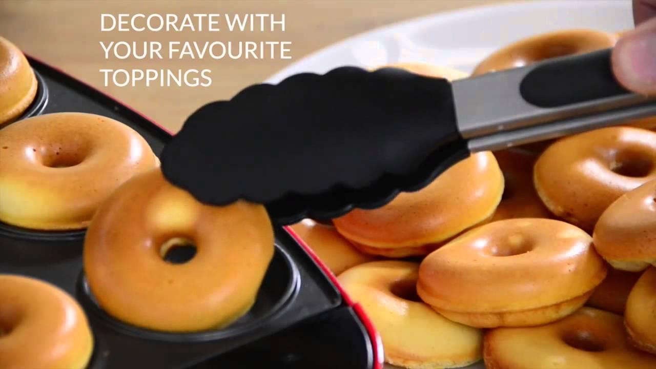 vonshef mini doughnut maker youtube. Black Bedroom Furniture Sets. Home Design Ideas