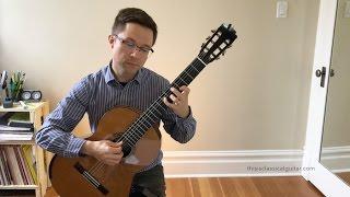 Brouwer Etude No. 6 (Estudios Sencillos) and Lesson for Classical Guitar