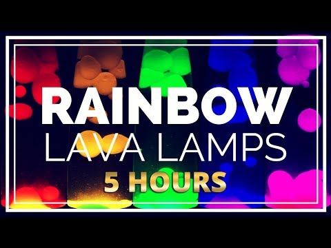Lava Lamp Rainbow Screensaver 5 Hours Relaxing Video Loop