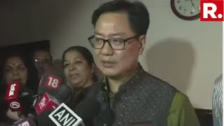 Kiren Rijiju Takes Charge As MoS (IC) Of The Ministry Of Youth Affairs And Sports