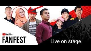 Bayu skak dan Raditya Dika NGEJEK Ria ricis sampai nangis - Youtube FanFest 2017