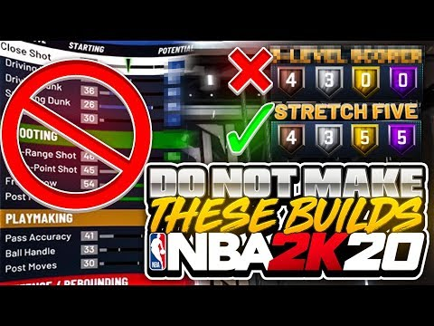 "THESE BUILDS WILL RUIN YOUR LIFE! DO NOT MAKE THESE NBA 2K20 ""BEST"" PLAYER BUILDS & ARCHETYPES TIPS"