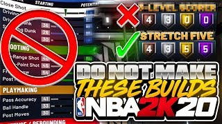"""THESE BUILDS WILL RUIN YOUR LIFE! DO NOT MAKE THESE NBA 2K20 """"BEST"""" PLAYER BUILDS & ARCHETYPES TIPS"""