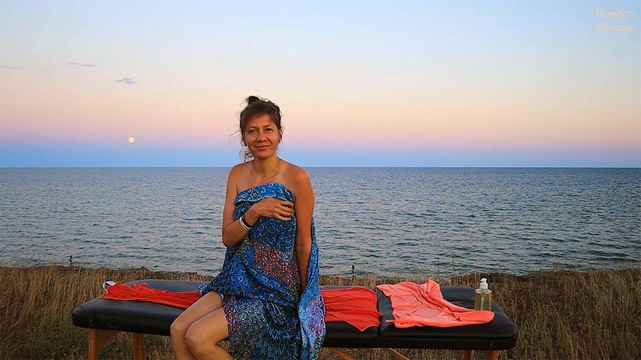[ASMR] Gentle relaxing evening massage. Sunset