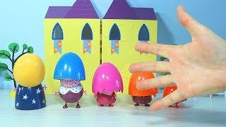 Песенка Семья Пальчиков на русском  Учим цвета с семьёй Пеппы  Видео с игрушками  Learn colors