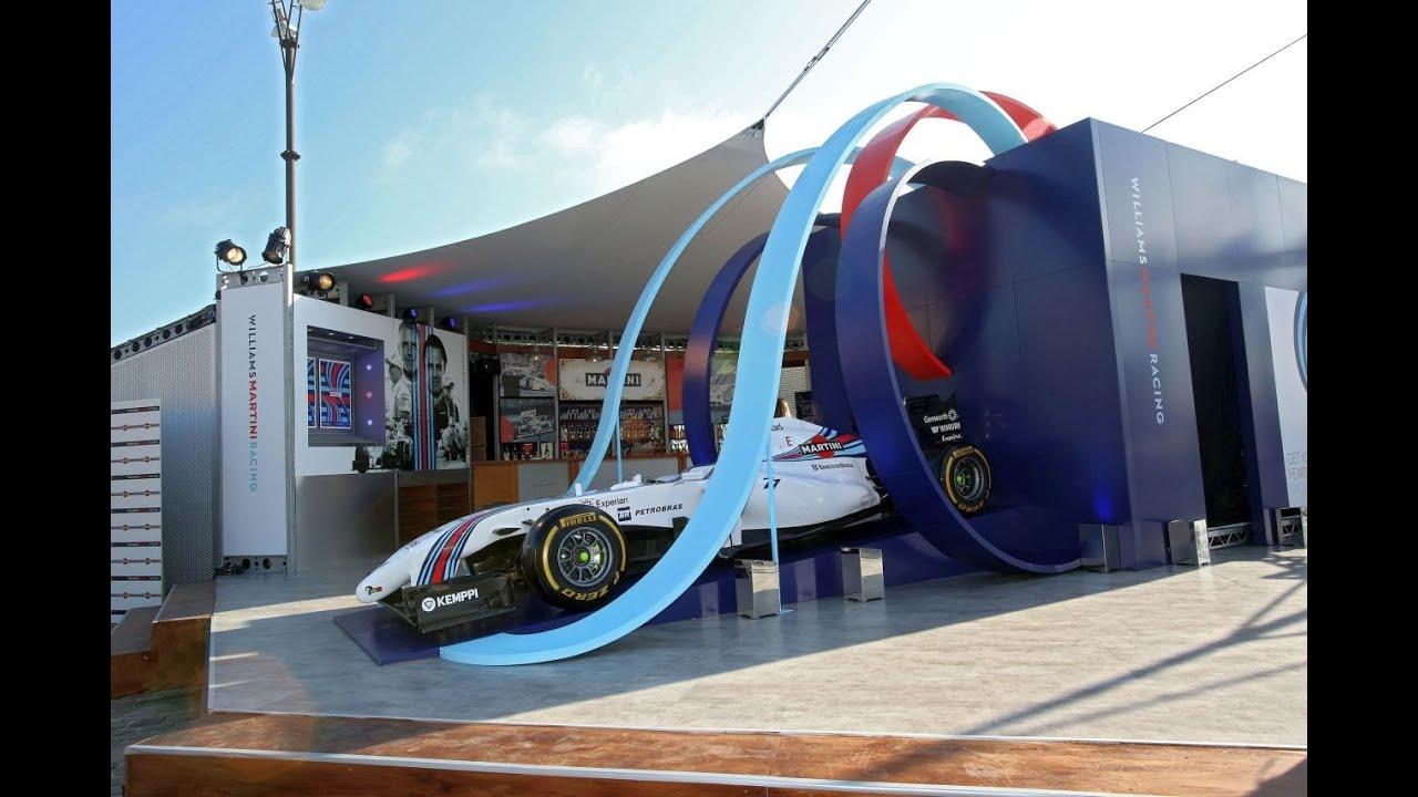 WILLIAMS MARTINI RACING Terrazza in Barcelona GP - YouTube