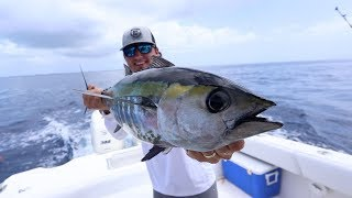 Fishing For GIANT Blackfin Tuna! {Catch Clean Cook} SHARK eats our fish!