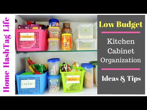 Indian Kitchen Organization Ideas - Small Space Kitchen Cabinets | Food HashTag Life
