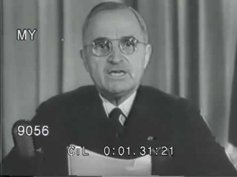 1945 Harry Truman Announces Victory Over Germany WWII